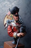 Highlander Piper Bust - SALE Normal price £35.00
